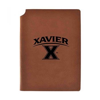 Xavier University Velour Journal with Pen Holder|Carbon Etched|Officially Licensed Collegiate Journal|