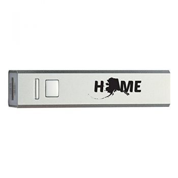 Alaska-State Outline-Home-Portable 2600 mAh Cell Phone Charger-