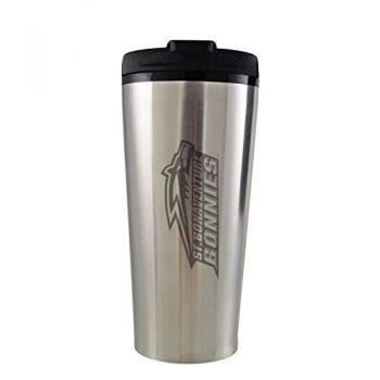 St. Bonaventure Bonnies -16 oz. Travel Mug Tumbler-Silver