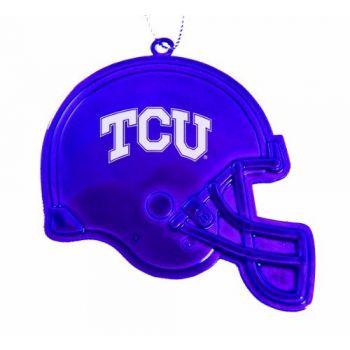 Texas Christian University - Christmas Holiday Football Helmet Ornament - Purple