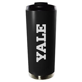 Yale University-16oz. Stainless Steel Vacuum Insulated Travel Mug Tumbler-Black