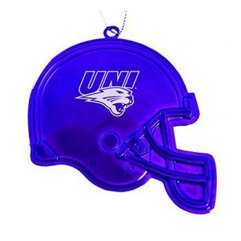 University of Northern Iowa - Christmas Holiday Football Helmet Ornament - Purple