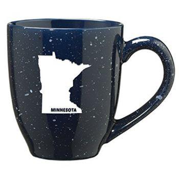 16 oz Ceramic Coffee Mug with Handle - Minnesota State Outline - Minnesota State Outline