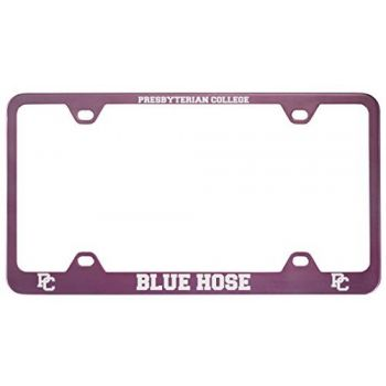 Presbyterian College -Metal License Plate Frame-Pink
