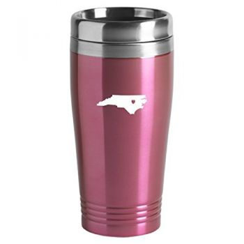 16 oz Stainless Steel Insulated Tumbler - I Heart North Carolina - I Heart North Carolina