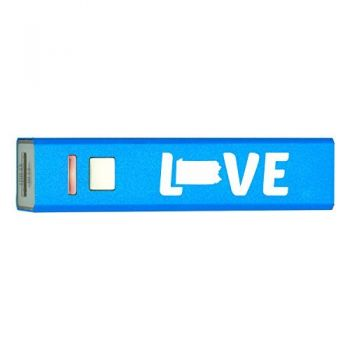 Pennsylvania-State Outline-Love-Portable 2600 mAh Cell Phone Charger-