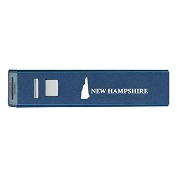 New Hampshire-State Outline-Portable 2600 mAh Cell Phone Charger-