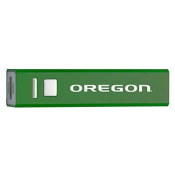 University of Oregon - Portable Cell Phone 2600 mAh Power Bank Charger - Green