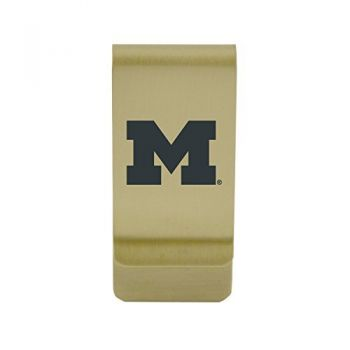 Miami University|Money Clip with Contemporary Metals Finish|Solid Brass|High Tension Clip to Securely Hold Cash, Cards and ID's|Silver