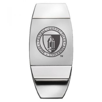 Central Connecticut State University - Two-Toned Money Clip - Silver