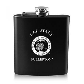 California State University Fullerton -6 oz. Color Stainless Steel Flask-Black
