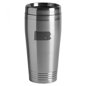 16 oz Stainless Steel Insulated Tumbler - I Heart Pennsylvania - I Heart Pennsylvania
