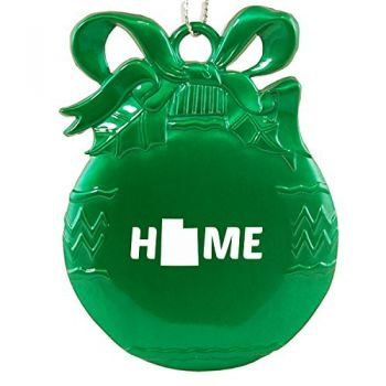 Utah-State Outline-Home-Christmas Tree Ornament-Green