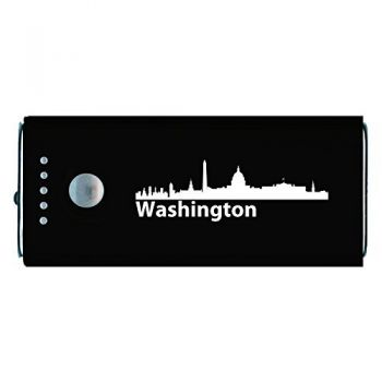 Washington, D.C., Capital of the USA-Portable Cell Phone 5200 mAh Power Bank Charger-Black