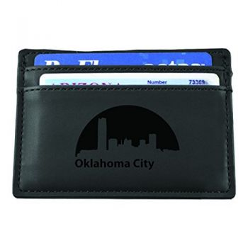 Oklahoma City, Oklahoma-European Money Clip Wallet-