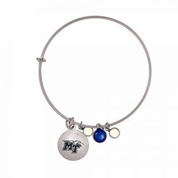 Middle Tennessee State University-Frankie Tyler Charmed Bracelet