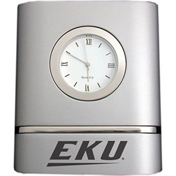 Eastern Kentucky University- Two-Toned Desk Clock -Silver