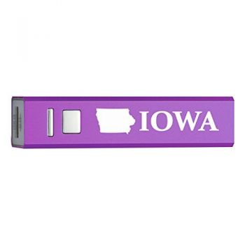 Iowa-State Outline-Portable 2600 mAh Cell Phone Charger-
