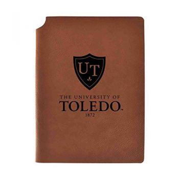University of Toledo Velour Journal with Pen Holder|Carbon Etched|Officially Licensed Collegiate Journal|