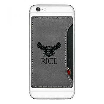 Rice University-Cell Phone Card Holder-Grey