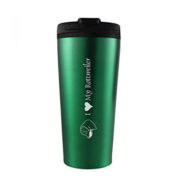 16 oz Insulated Tumbler with Lid  - I Love My Rottweiler