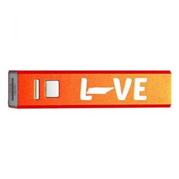 Tennessee-State Outline-Love-Portable 2600 mAh Cell Phone Charger-
