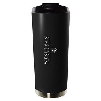 Wesleyan University-16oz. Stainless Steel Vacuum Insulated Travel Mug Tumbler-Black