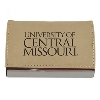 Velour Business Cardholder-University of Central Missouri-Tan