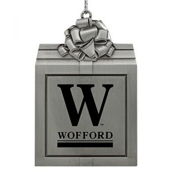Wofford College-Pewter Christmas Holiday Present Ornament-Silver