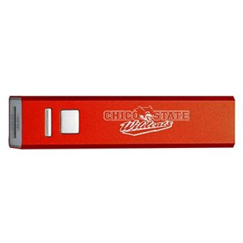 California State University, Chico - Portable Cell Phone 2600 mAh Power Bank Charger - Red