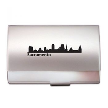 Business Card Holder Case - Sacramento City Skyline