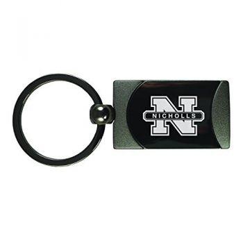Nicholls State University -Two-Toned Gun Metal Key Tag-Gunmetal