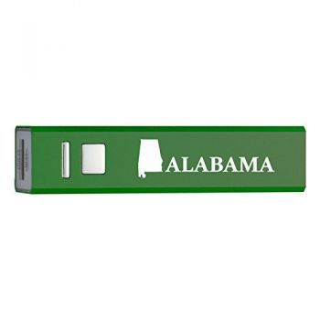 Alabama-State Outline-Portable 2600 mAh Cell Phone Charger-