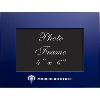 Morehead State University - 4x6 Brushed Metal Picture Frame - Blue
