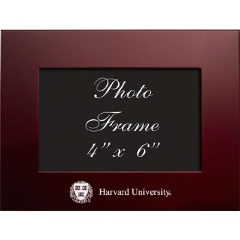 Harvard University - 4x6 Brushed Metal Picture Frame - Burgundy