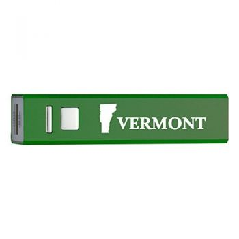 Vermont-State Outline-Portable 2600 mAh Cell Phone Charger-