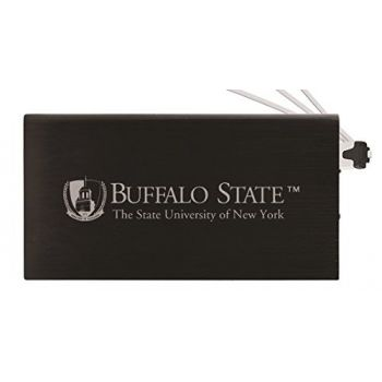 8000 mAh Portable Cell Phone Charger-Buffalo State University - The State University of New York -Black