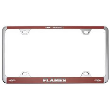 Liberty University-Metal License Plate Frame-Red