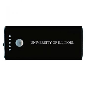 University of Illinois -Portable Cell Phone 5200 mAh Power Bank Charger -Black