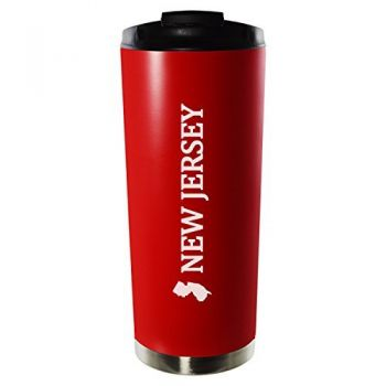 16 oz Vacuum Insulated Tumbler with Lid - New Jersey State Outline - New Jersey State Outline