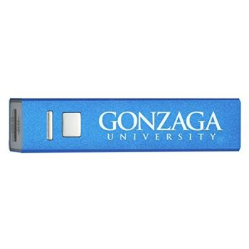 Gonzaga University - Portable Cell Phone 2600 mAh Power Bank Charger - Blue