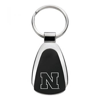 University of Nebraska - Teardrop Keychain - Black