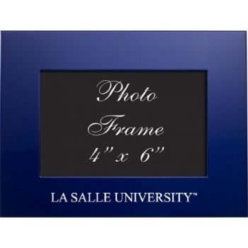 La Salle University - 4x6 Brushed Metal Picture Frame - Blue