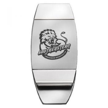 Southeastern Louisiana University - Two-Toned Money Clip - Silver
