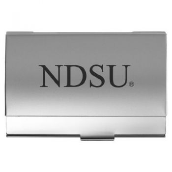 North Dakota State University - Two-Tone Business Card Holder - Silver