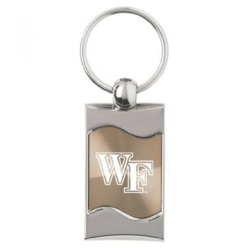 Wake Forest University - Wave Key Tag - Gold