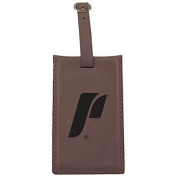 The University of Portland-Leatherette Luggage Tag-Brown