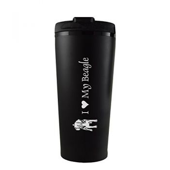 16 oz Insulated Tumbler with Lid  - I Love My Beagle