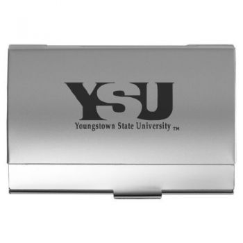Youngstown State University - Two-Tone Business Card Holder - Silver