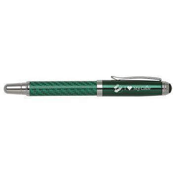 Carbon Fiber Rollerball Pen-I love my Collie-Green